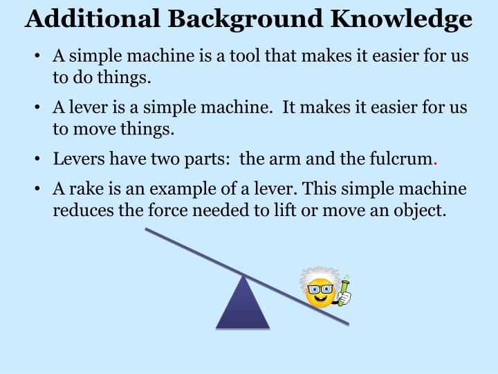 Additional Background Knowledge