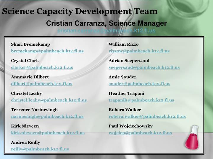 Science Capacity Development Team