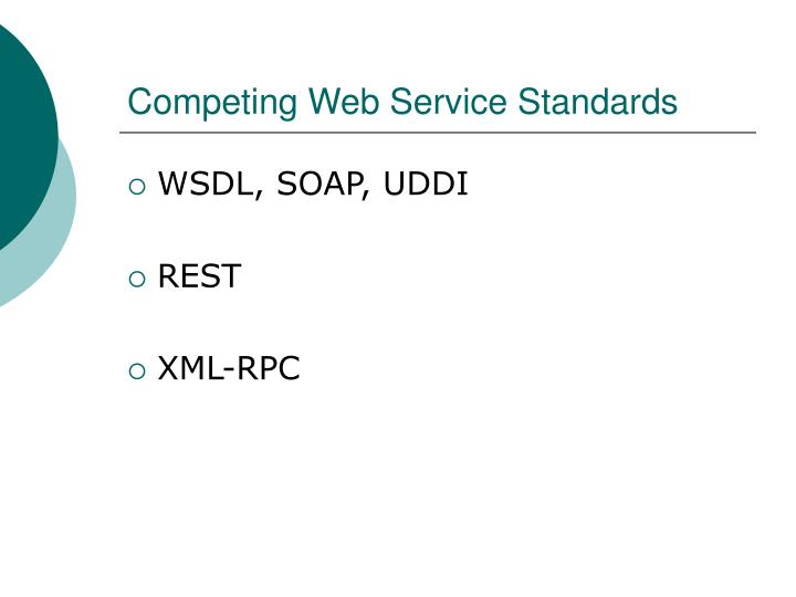 Competing Web Service Standards