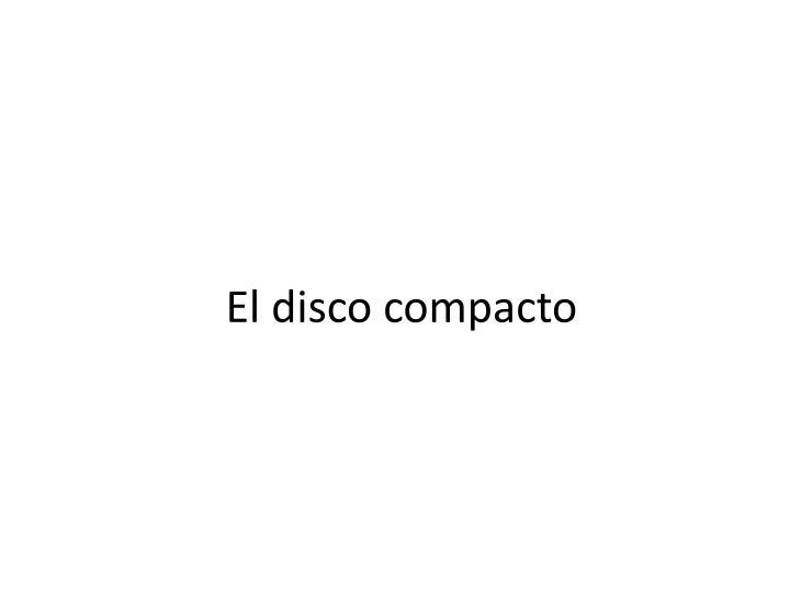 El disco