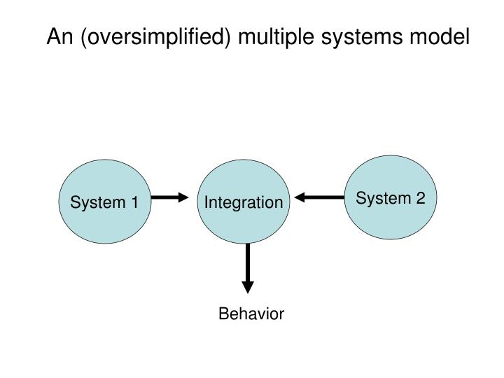 An (oversimplified) multiple systems model