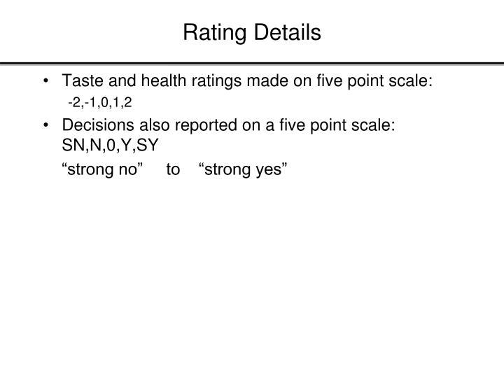 Rating Details