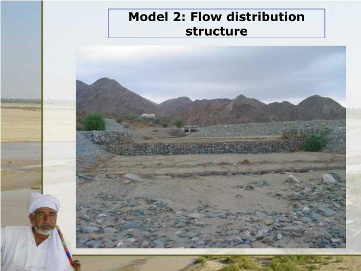 Model 2: Flow distribution structure