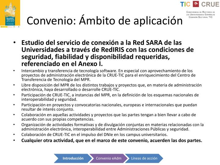 Convenio: Ámbito de aplicación