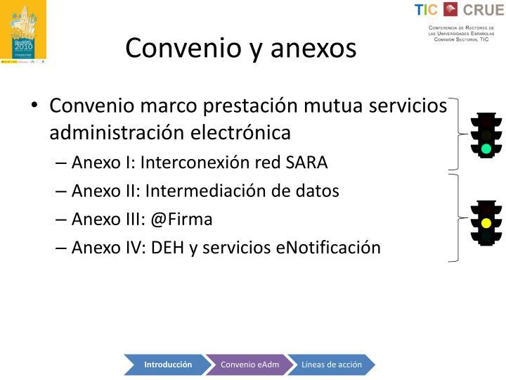 Convenio y anexos