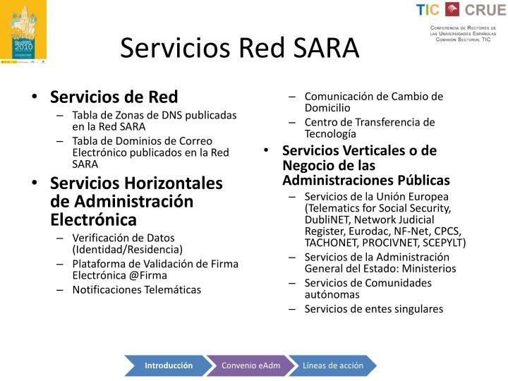 Servicios Red SARA