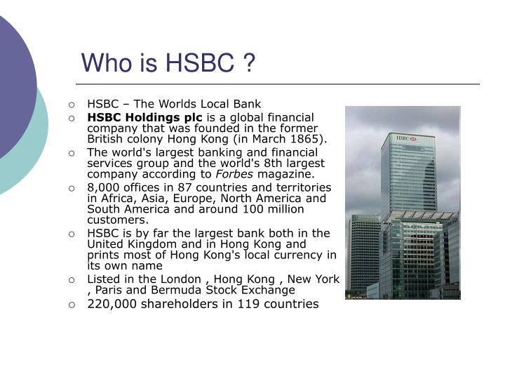 Who is HSBC ?