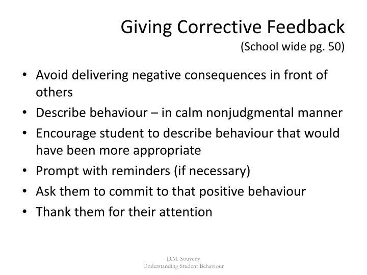 Giving Corrective Feedback