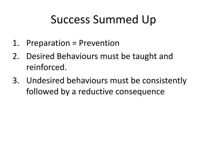 Success Summed Up