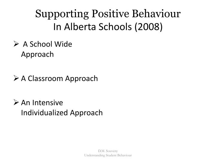 Supporting Positive Behaviour