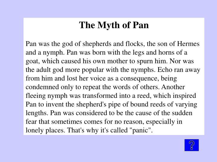 The Myth of Pan