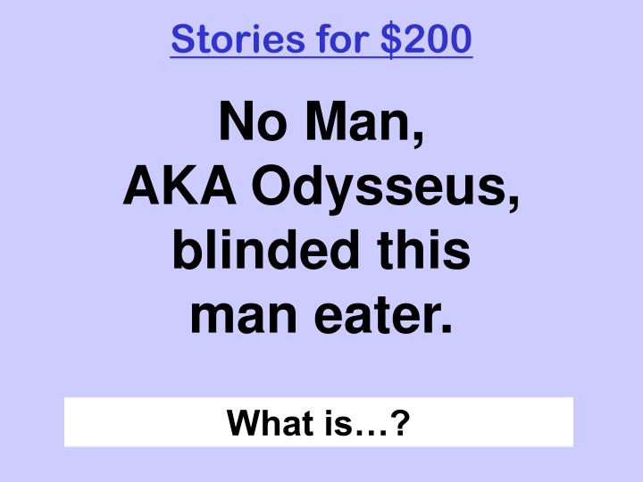 Stories for $200