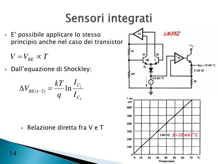 Sensori integrati