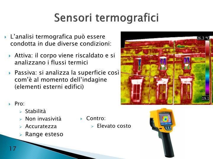 Sensori termografici