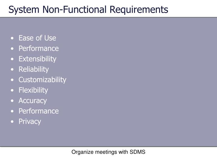 System Non-Functional Requirements