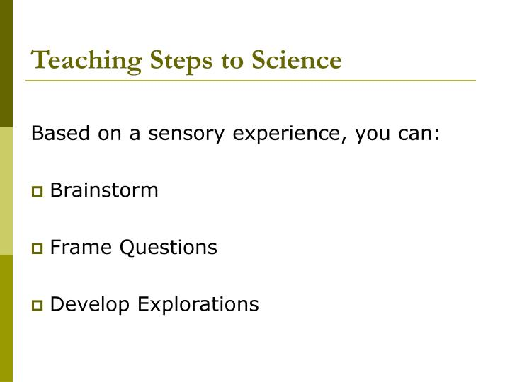 Teaching Steps to Science