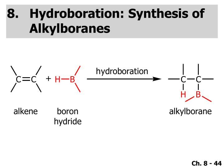 Hydroboration: Synthesis of