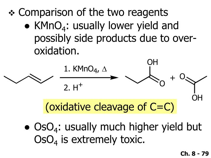 Comparison of the two reagents