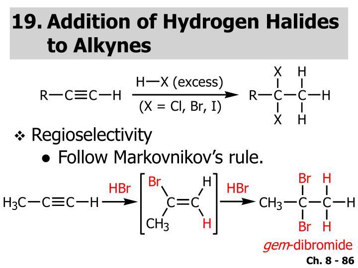 Addition of Hydrogen Halides