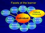 facets of the learner