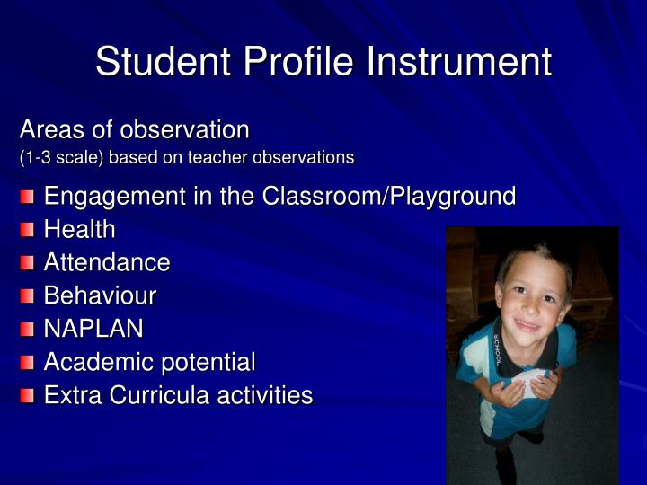 Student Profile Instrument