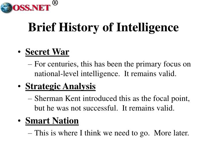 Brief history of intelligence
