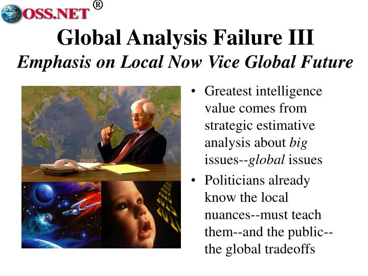 Global Analysis Failure III