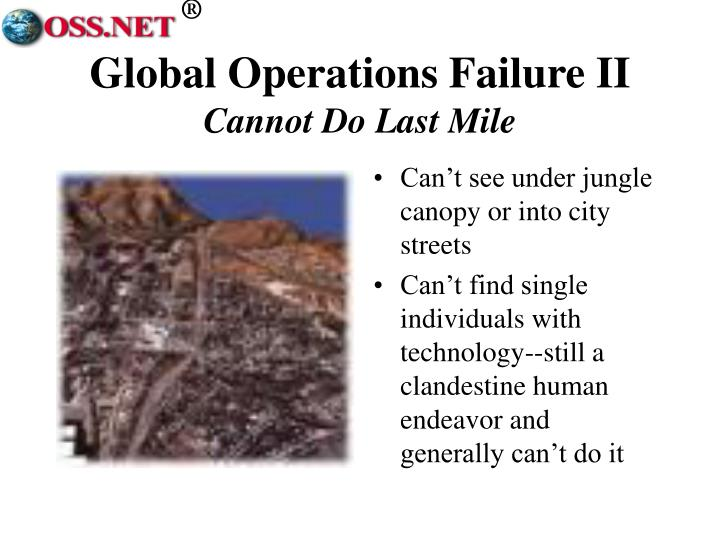 Global Operations Failure II