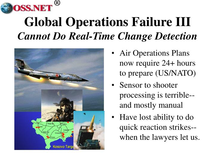 Global Operations Failure III