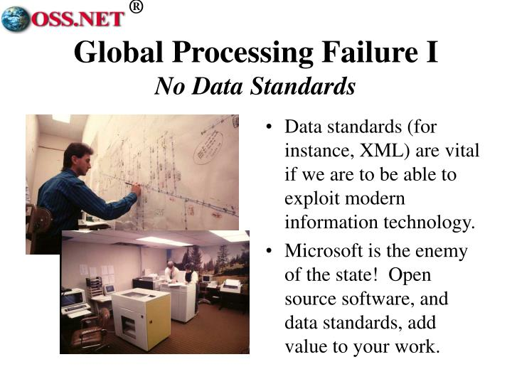 Global Processing Failure I