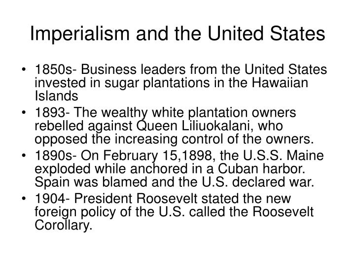 Imperialism and the united states