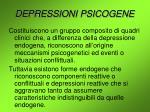 depressioni psicogene