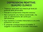 depressioni reattive quadro clinico