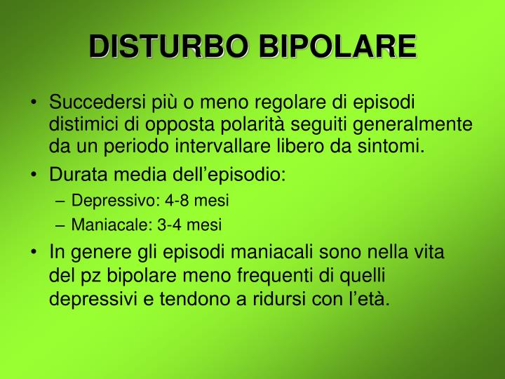 DISTURBO BIPOLARE