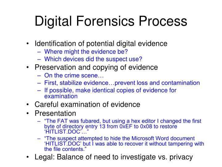 computer forensics investigation essay Watch video join jungwoo ryoo for an in-depth discussion in this video types of computer forensics investigations preparing for a computer forensics investigation.