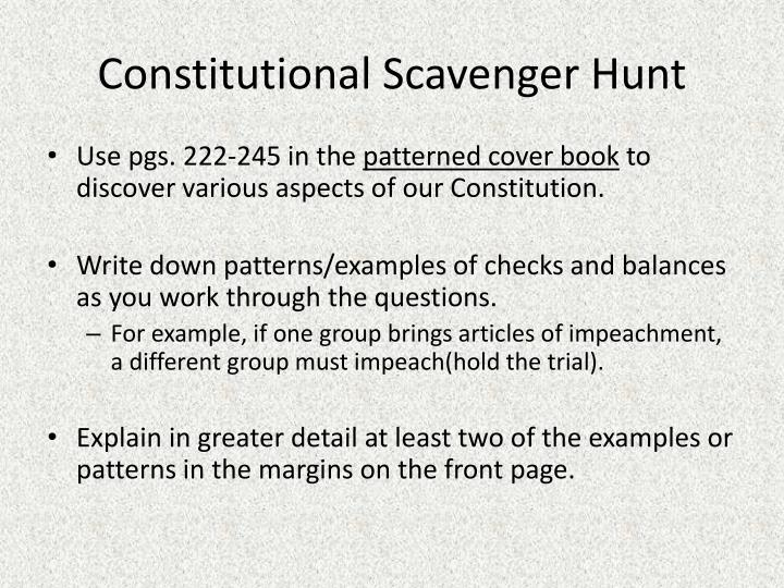Constitutional Scavenger Hunt