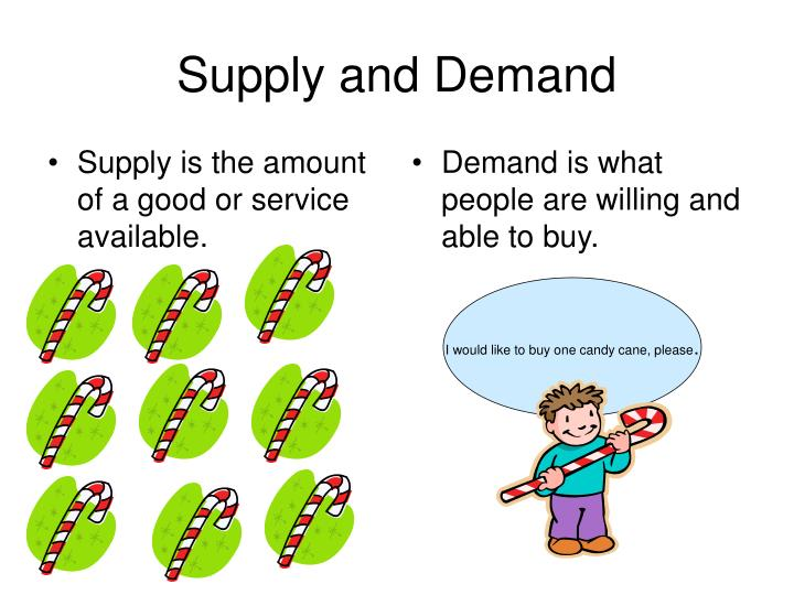 Supply is the amount of a good or service available.