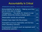 accountability is critical