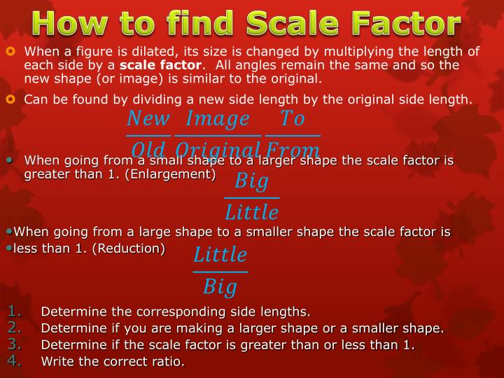 How to find Scale Factor