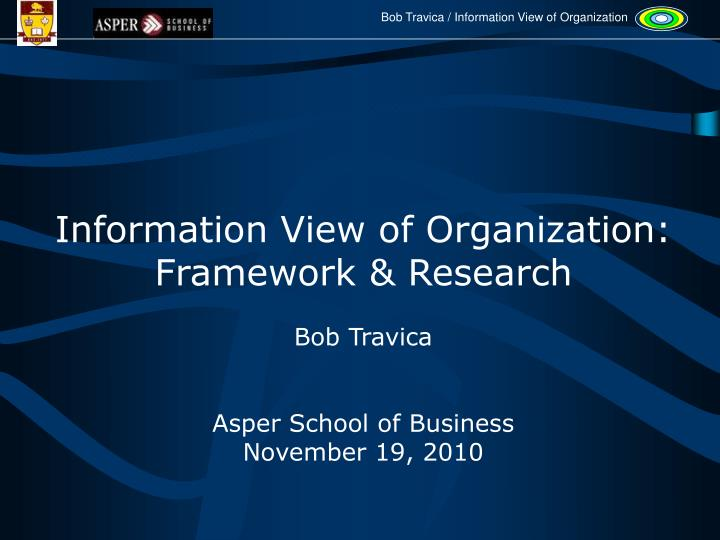 Information View of Organization: