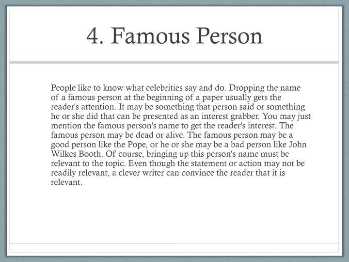 4. Famous Person