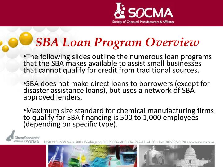 SBA Loan Program Overview