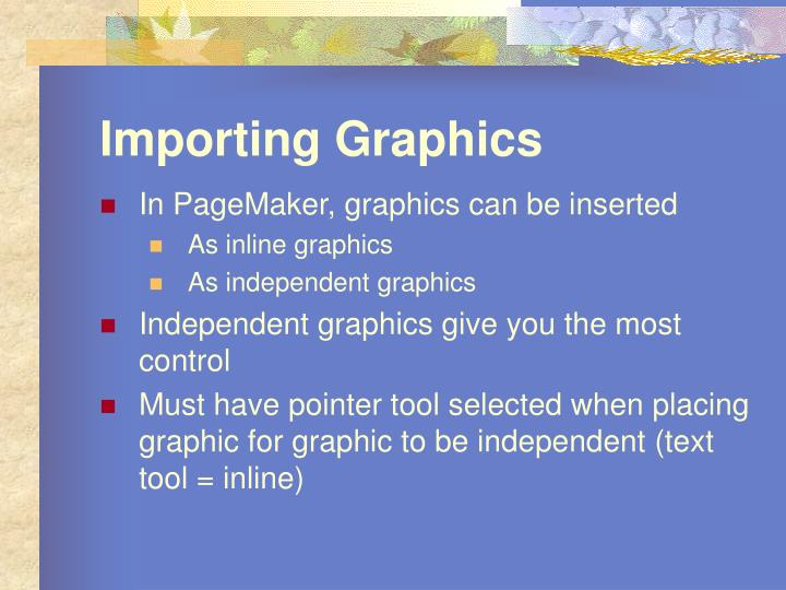 Importing graphics