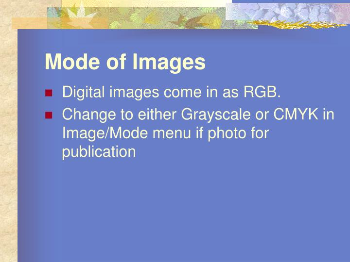 Mode of Images