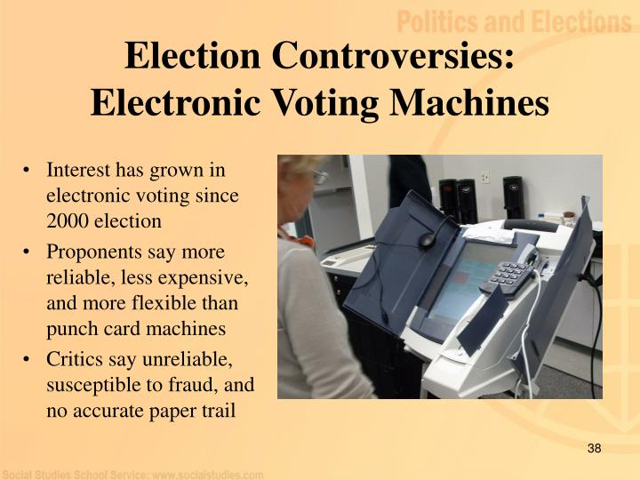 Interest has grown in electronic voting since 2000 election