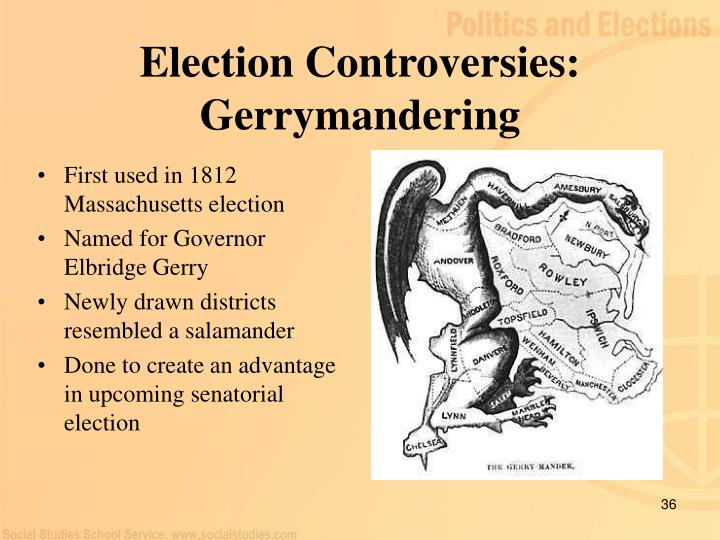 First used in 1812 Massachusetts election