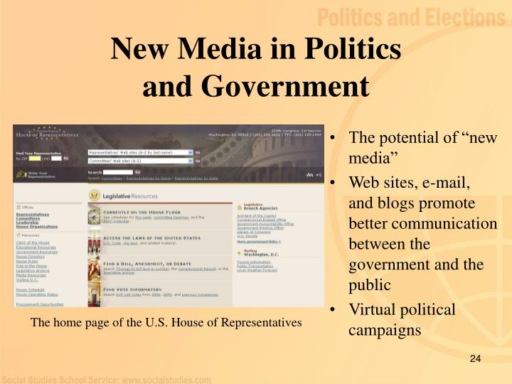 New Media in Politics