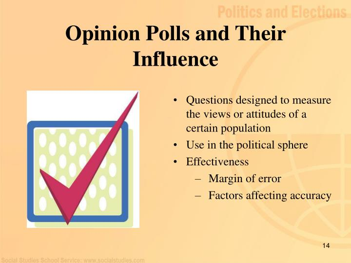 Opinion Polls and Their Influence