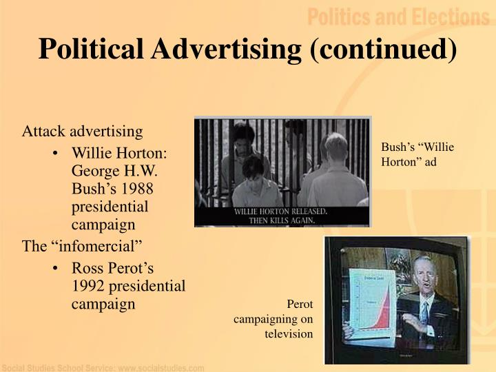 Political Advertising (continued)