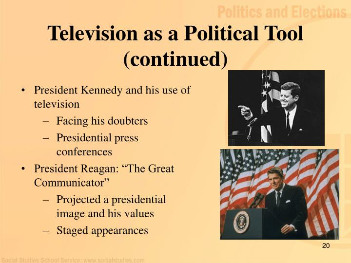 Television as a Political Tool (continued)